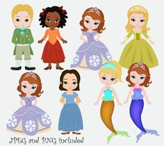 Hey, I found this really awesome Etsy listing at https://www.etsy.com/listing/181985170/princess-sofia-clipart-first-fairy-tale