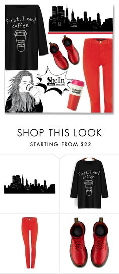 """""""First, I need coffee!!!!!"""" by veronica7777 ❤ liked on Polyvore featuring J Brand, Dr. Martens, Kate Spade, women's clothing, women's fashion, women, female, woman, misses and juniors"""
