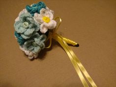 Crocheted bouquet