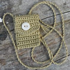 """Handmade and One of a Kind Miniature Spirit Pouch - """"Faded Moss"""""""