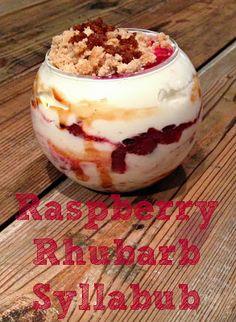 Recipe: Raspberry Rhubarb Syllabub #asheville