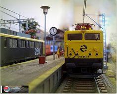 269.955 estacionada en anden 2. Escala H0. http://ju5modelismo.blogspot.com.es/