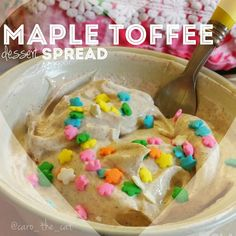 Mix ❤1 cup non fat Greek yogurt ❤1 TBS sugar free maple syrup ❤1/2 tsp vanilla extract ❤5 drops of stevia toffee zero calorie sweetener ❤2 drops of Capella French toast flavoring ❤1 tsp of cinnamon ❤2 TBS Musclpharm cinnamonbun combat protein powder ❤tons of love and sprinkles!!