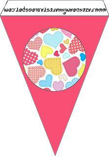 Dia dos Namorados - Kit Completo com molduras para convites, rótulos para guloseimas, lembrancinhas e imagens!