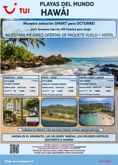 #Hawai es otro de nuestros destinos #smart con #vuelo y #hotel para este mes de #octubre