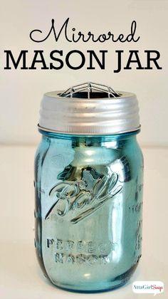How to Make Mirrored Mercury Glass Mason Jars      http://diyhomesweethome.com/how-to-make-mirrored-mercury-glass-mason-jars/