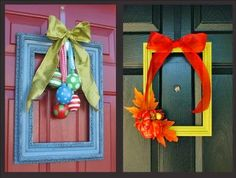 """You can even frame your """"Peep"""" hole!  Love these wreath ideas, not your traditional wreath!"""