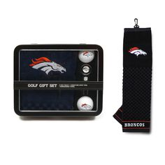 Denver Broncos Golf Gift Set with Towel