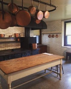 Vanderbilt kitchen at Hyde Park. Finished by 1899 and designed by McKim Mead and White