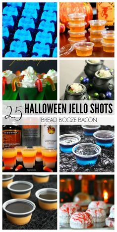 Let's get the party started with these 25 Halloween Jello Shots Recipes! We&… Let's get the party started with these 25 Halloween Jello Shots Recipes! We've found all kinds unique jello shots from the tame to the crazy to impress your guests! Halloween Cocktails, Halloween Desserts, Shots Halloween, Hallowen Food, Halloween Goodies, Halloween Food For Party, Holidays Halloween, Halloween Treats, Halloween Halloween