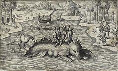Old Sea Monster Drawings   Sea Monster