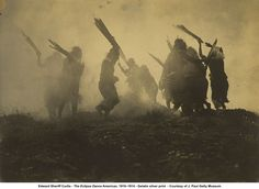 The Eclipse Dance artwork by Edward S. Curtis