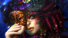 Fantasy Witches | Witch with mask | Fantasy Wallpapers | HQ Wallpapers | Free Wallpapers