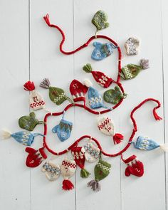 Klobouky a palčáky Fair Isle Adventní kalendář