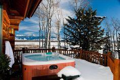 Teton Village House Rental: Spectacular View Luxury Log Home Adjacent To Lifts & Village | HomeAway