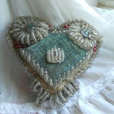 Cool antique pin cushion.