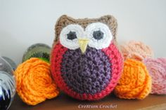 Lil stuffed owls free pattern from Cre8tion Crochet, thanks so xox