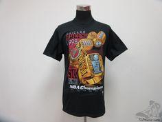 Vtg 90s Pro Player Chicago Bulls RINGS 1998 NBA Finals Shirt sz M Medium Jordan #ProPlayer #ChicagoBulls #tcpkickz