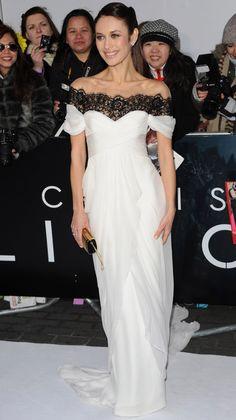"OLGA KURYLENKO IS A VISION IN MARCHESA AT THE ""OBLIVION"" LONDON PREMIERE"