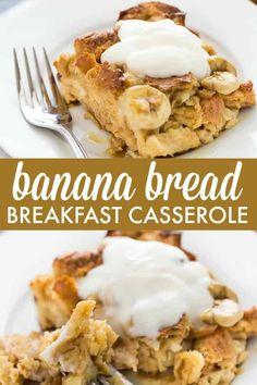 Leftover Banana Recipes, Banana Bread Recipes, Breakfast Casserole With Bread, Breakfast Bread Recipes, Breakfast Dishes, Breakfast Sandwiches, Brunch Recipes, Kouign Amann, Amigurumi