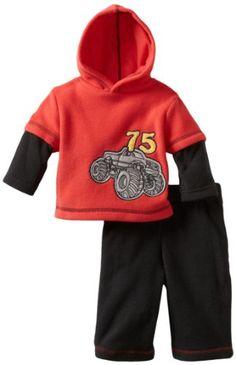 90282841468f5 Babyworks Baby-Boys Newborn Monster Truck Polar Fleece Set, Black, 0-3  Months