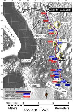 Apollo Landing Site Map