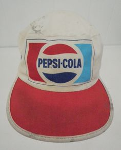 fc456fcb Pepsi Cola Vintage Painter Hat Distressed Dirty Worn Paint Spots Beat Up  Old Cap Made in