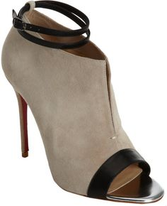 Christian Louboutin Ankle Boots in Beige - Lyst