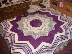 """My """"JMSQ"""" Qunique Patterns - Created By: Jeanarie: Round Ripple Bedspread"""