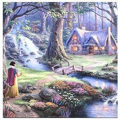 403-271 - Thomas Kinkade Disney Dreams Collection Gallery Wrapped Canvas 14x14