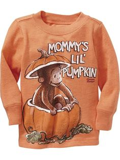 """Curious George&#174 """"Mommy's Lil' Pumpkin"""" Tees for Baby Product Image"""