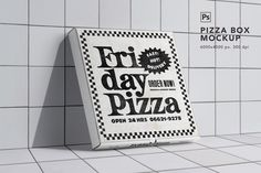 Pizza Box Mockup by eezo on Pizza Branding, Pizza Logo, Restaurant Identity, Food Branding, Food Packaging Design, Brand Packaging, Pizza Box Design, Box Mockup, Mockup Templates