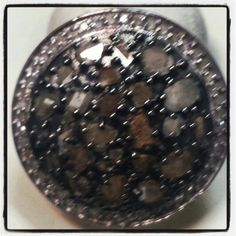 Diamond & Sapphire Slices Ring. 3 Heart's Boutique. Check us out on Facebook & Twitter