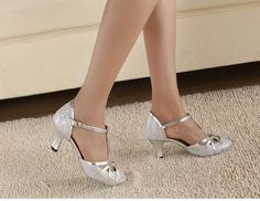 """Abby Q-6133 Womens Litin Shoes Ballroom Dance 2.4''/3.3"""" Flared Heel Shoes Silvery US Size7 Abby,http://www.amazon.com/dp/B00H9FYI02/ref=cm_sw_r_pi_dp_p6motb0KXYENZ5MA"""
