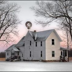 I lived in a 100 year old farmhouse from the time I was one till I was in ninth grade. The first winter there we had ice on the inside of the windows and you could hear mice in the walls~I was never happier~