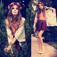 Llamamiento a la Primavera: Coronas florales #spring #primavera #moda #tendencias #fashion #flowers Flávia Desgranges van der Linden