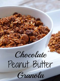Try this Homemade Chocolate Peanut Butter Granola for breakfast or a snack!