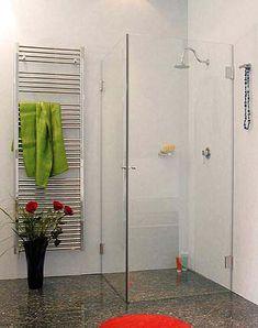 AK1W, Eck-Dusche mit 2 Türen, Klarglas, Chrom, H=173cm