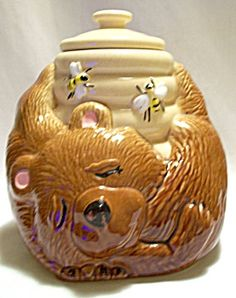 McCoy Bear with Bee Hive Cookie Jar #143
