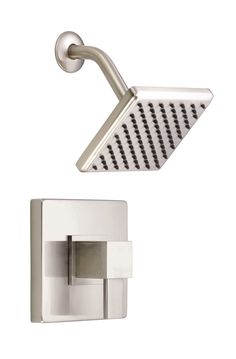 Danze Reef Brushed Nickel Modern Single Handle Square Shower Only Faucet