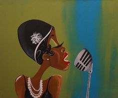 Im in love with the piece, the artist style is so pretty! Black Art/ African American Art Fannie the Flapper by ArtbyTiffani Black Art Painting, Black Artwork, African American Artwork, African Art, Black Girl Art, Black Women Art, Dope Kunst, Jazz Art, Afro Art