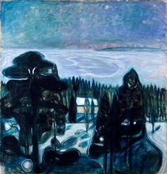 """ALONGTIMEALONE: God Jul! - Merry Christmas! Edvard Munch: """"White night 1900-01"""