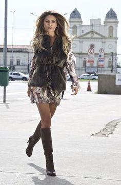 colete de pelo | samantha marrom | coleteria in the city