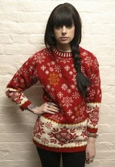 Vintage red and white Christmas jumper £40.00