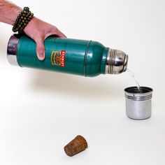 """When people say """"they just don't make me like they used to..."""" They were probably talking about this intake Stanley thermos. This thing is a tank, made all the way back in the mid 50's and still has its cork! This and other great curated vintage pieces in our store! Link is in the bio! #vintage #ky #kentuckykicksass #lifestyle #travel #survival #etsy #etsyshop #etsyseller #rrg #coffee #stanley #tools #wildlife #toolsofthetrade #camping #outdoors #decor #hiking #camp #antique #bushcraft…"""