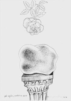 På søylen, under en rose - On a pedestal, under a rose Pedestal, Skull, Album, Tattoos, Rose, Art, Art Background, Tatuajes, Pink