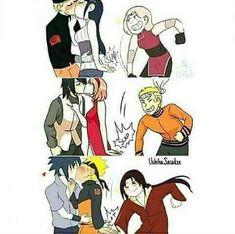 UwU sasunaru for ever >w< Naruto Kakashi, Anime Naruto, Naruto Comic, Naruto Cute, Naruto Shippuden Sasuke, Otaku Anime, Anime Meme, Hinata, Sasunaru