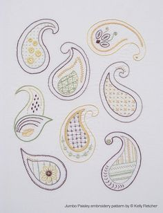 15 Best Paisley images | Paisley embroidery, Hand ...
