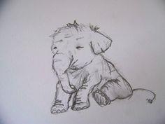 Baby Elephant sketch- aw cute!!!