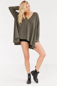 Project Social T V-Neck Hooded Top